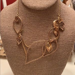 Chloe + Isabel Pave Textured Leaves Drama Necklave
